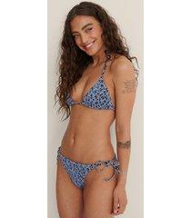 na-kd swimwear bikiniunderdel med knytning i sidan - blue