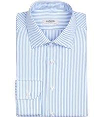 camicia da uomo su misura, thomas mason, righe azzurre pinpoint, quattro stagioni | lanieri