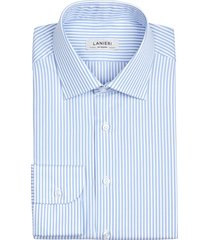 camicia da uomo su misura, thomas mason, righe azzurre pinpoint, quattro stagioni