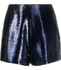 philosophy di lorenzo serafini sequinned shorts - blue