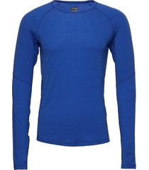 mens 150 z ls crewe base layer tops blauw icebreaker