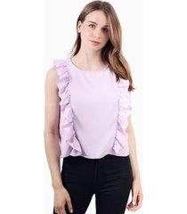 blusa juanita sin mangas lila jacinta tienda