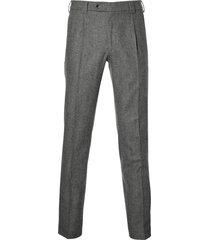meyer pantalon milano - slim fit - grijs