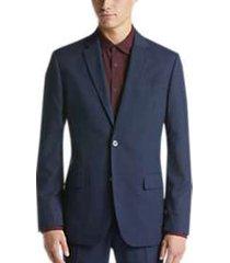 ben sherman blue check extreme slim fit suit