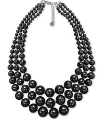 """charter club silver-tone colored imitation pearl layered collar necklace, 16-1/2"""" + 2"""" extender, created for macy's"""