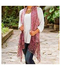 cotton rebozo vest, 'color of tradition' (mexico)