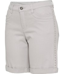 shorts di jeans decorati (grigio) - bodyflirt