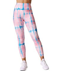women's eleven by venus williams x carbon38 core 7/8 leggings, size x-small - blue