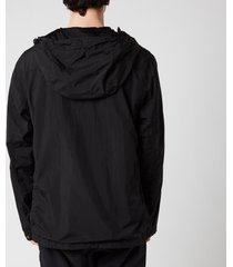 c.p. company men's half zip hooded jacket - black - m