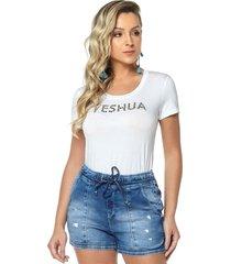 t-shirt daniela cristina gola u profundo 02 602dc10296 branco - branco - feminino - dafiti