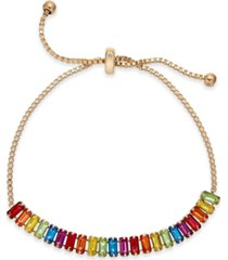 inc baguette-crystal slider bracelet, created for macy's