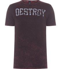 camiseta masculina destroy - vermelho