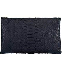 blue small python effect clutch