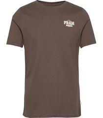 washout tee t-shirts short-sleeved brun fram