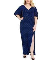 alex evenings plus size printed gown