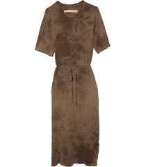 belted tee dress in army tie dye
