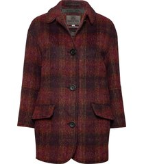 edie wollen jas lange jas rood brixtol textiles
