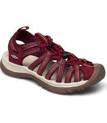 ke whisper w red dahlia shoes summer shoes flat sandals röd keen