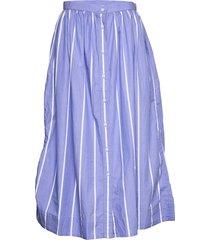d2. striped shirt skirt knälång kjol blå gant