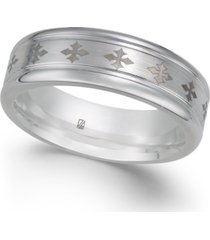 men's cross-design cobalt ring