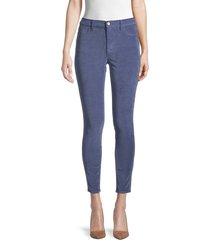 frame women's le high skinny ankle jeans - dusty blue - size 24 (0)