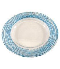 sousplat dunya de vidro azul 32cm arizona azul