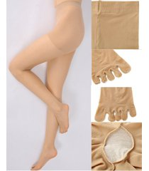 sheer 5 toe glove pantyhose single toes nylons clear dcy separate five toes hose