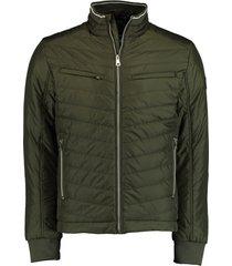 bos bright blue reno short puff jacket 21101re01sb/368 l.olive