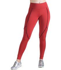 calça legging feminina surty line up vermelha