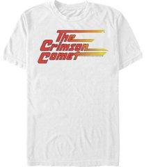 fifth sun dc men's flash the crimson comet logo short sleeve t-shirt