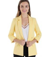 blazer botones decorativos amarillo nicopoly