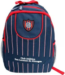 mochila azul oficial san lorenzo