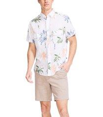 nautica men's classic-fit palm-print textured shirt