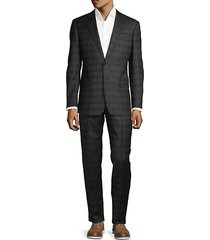 classic-fit wool plaid suit