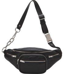 black leather attica soft fanny pack