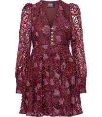 leandra by nbs kort klänning röd custommade