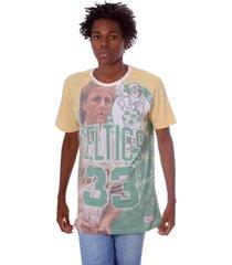 camiseta mitchell & ness city pride larry bird boston celtics verde - verde - masculino - dafiti