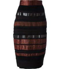 gianfranco ferré pre-owned paneled pencil skirt - black