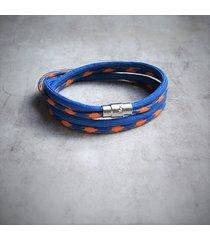 męska bransoletka : sailor : blue&orange
