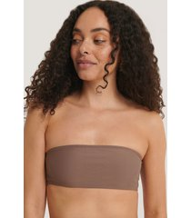 na-kd swimwear bandeaubikini-överdel - brown