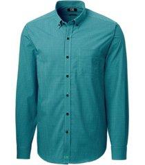 cutter & buck men's anchor gingham shirt