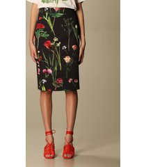 boutique moschino skirt boutique moschino pencil skirt with botanical pattern