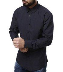 camisa manga longa vivacci masculina