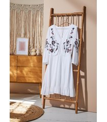 abito tunica ricamato (bianco) - bodyflirt