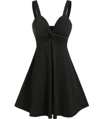 front twist empire waist a line cami dress