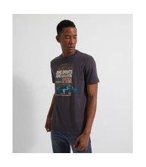camiseta manga curta estampa carro de corrida | marfinno | cinza | p