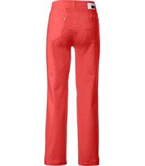 feminine fit broek model nicola van pima cotton van brax feel good rood