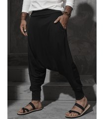 incerun hombres estilo étnico super suelto elástico casual harem pantalones