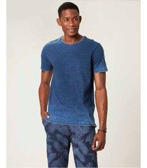 camiseta slim malha índigo malwee azul escuro - p