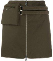 coperni belted pouch mini skirt - green